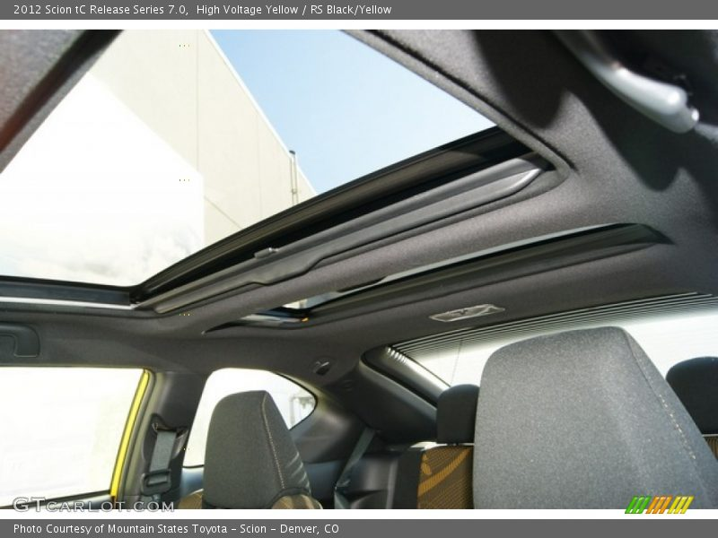 Sunroof of 2012 tC Release Series 7.0