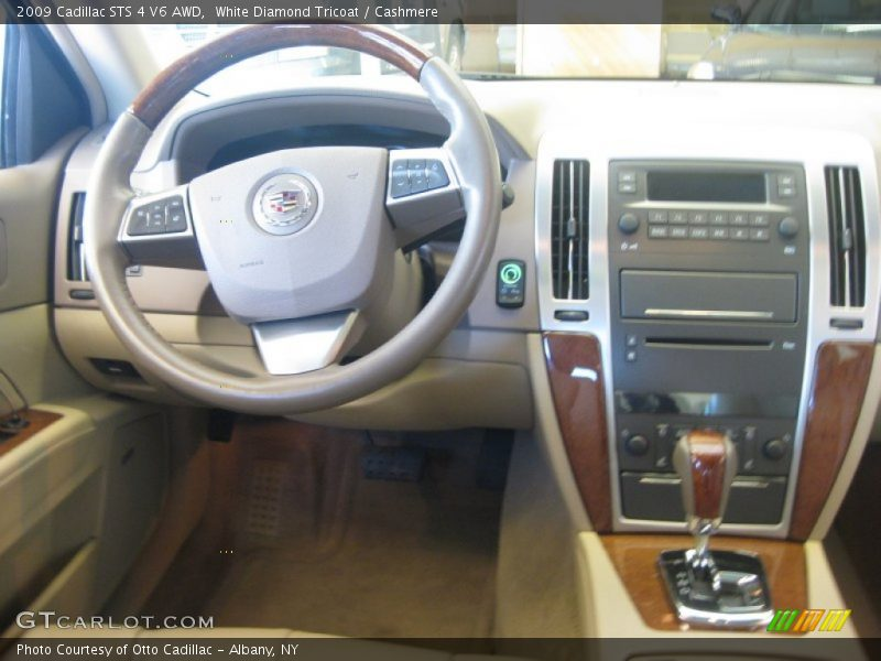 White Diamond Tricoat / Cashmere 2009 Cadillac STS 4 V6 AWD