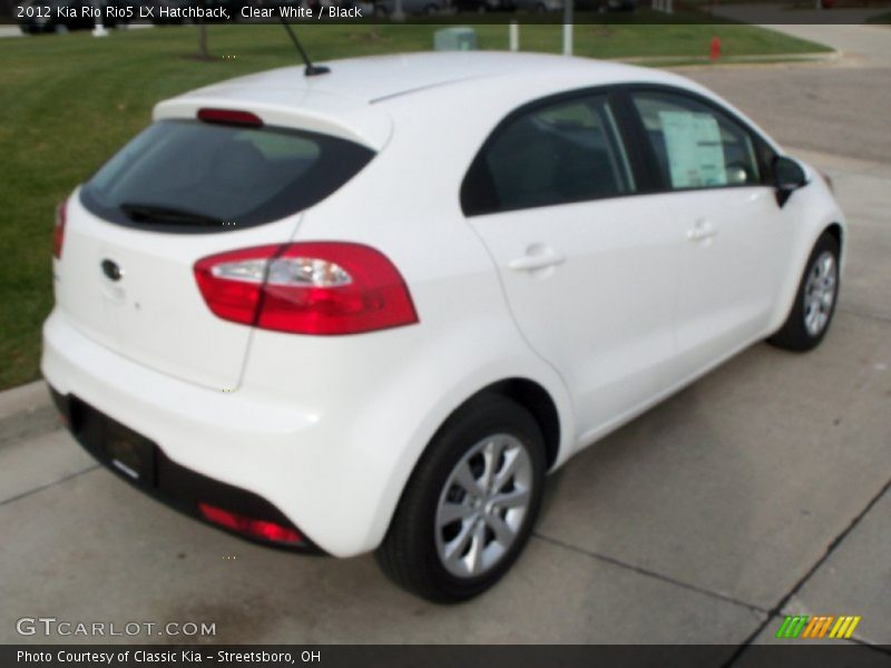 Clear White / Black 2012 Kia Rio Rio5 LX Hatchback