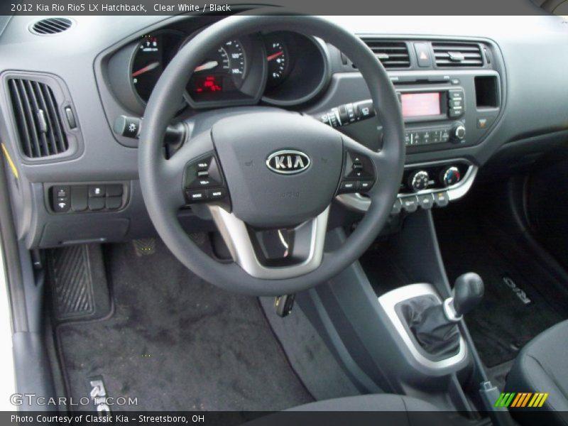 Dashboard of 2012 Rio Rio5 LX Hatchback
