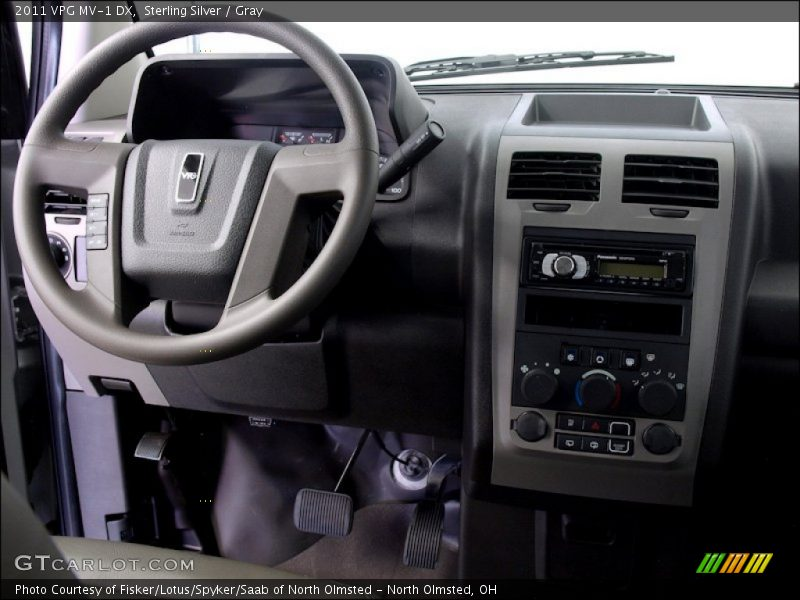 Dashboard of 2011 MV-1 DX