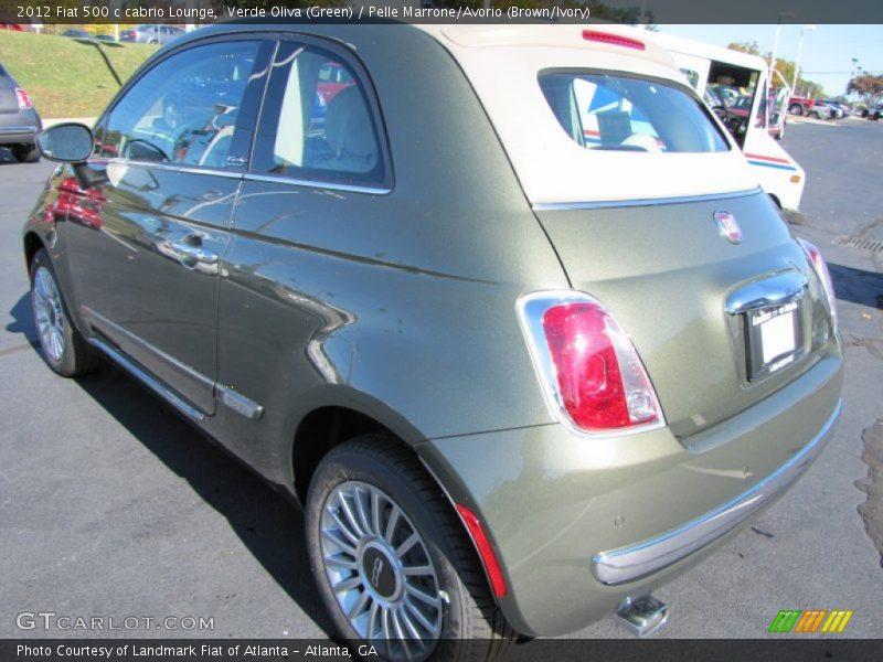2012 500 c cabrio Lounge Verde Oliva (Green)