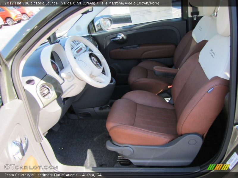 2012 500 c cabrio Lounge Pelle Marrone/Avorio (Brown/Ivory) Interior