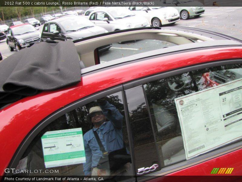 Rosso Brillante (Red) / Pelle Nera/Nera (Black/Black) 2012 Fiat 500 c cabrio Lounge