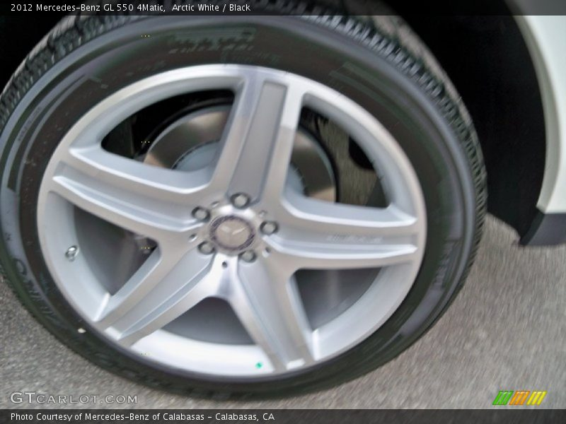 Arctic White / Black 2012 Mercedes-Benz GL 550 4Matic
