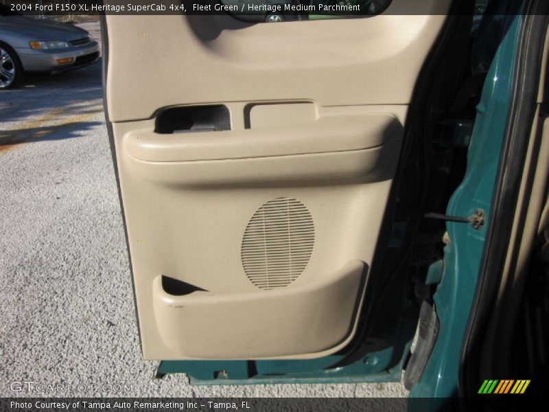 Fleet Green / Heritage Medium Parchment 2004 Ford F150 XL Heritage SuperCab 4x4