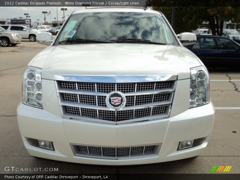 2012 cadillac escalade platinum in white diamond tricoat. Black Bedroom Furniture Sets. Home Design Ideas