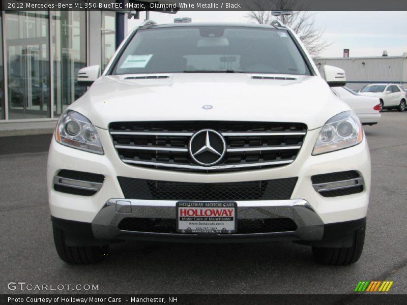 Diamond White Metallic / Black 2012 Mercedes-Benz ML 350 BlueTEC 4Matic