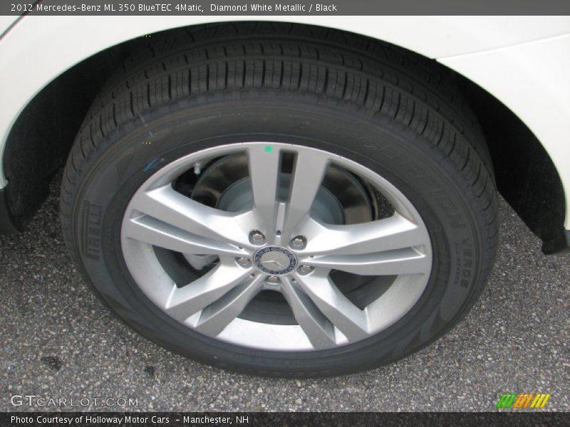 Diamond White Metallic / Black 2012 Mercedes-Benz ML 350 BlueTEC 4Matic