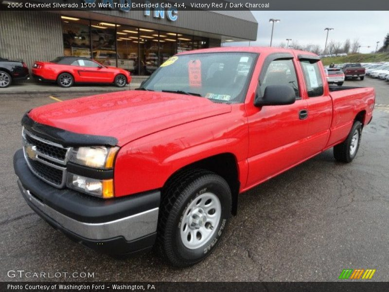 Victory Red / Dark Charcoal 2006 Chevrolet Silverado 1500 Work Truck Extended Cab 4x4