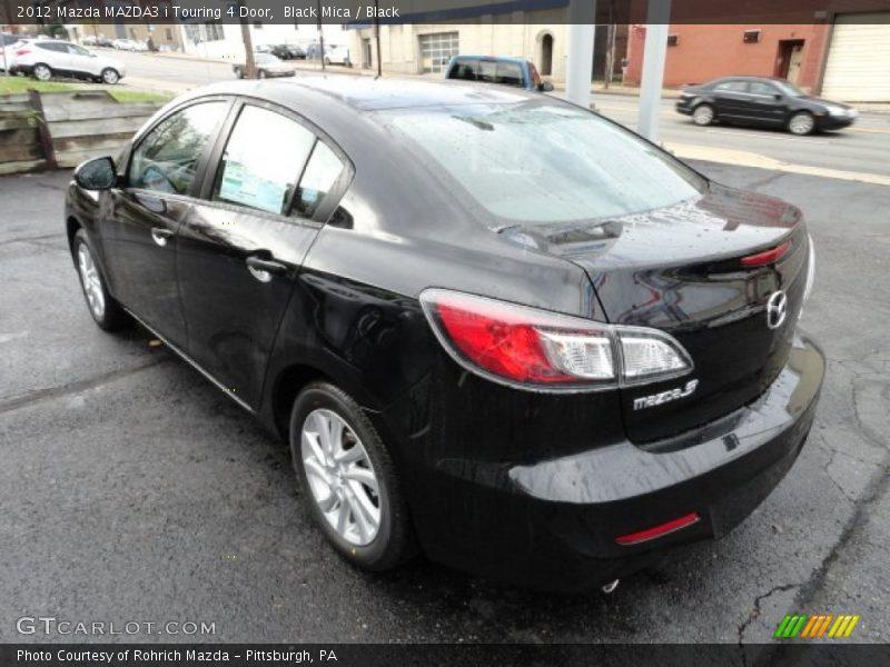 Black Mica / Black 2012 Mazda MAZDA3 i Touring 4 Door