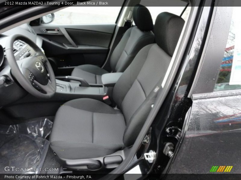 2012 MAZDA3 i Touring 4 Door Black Interior