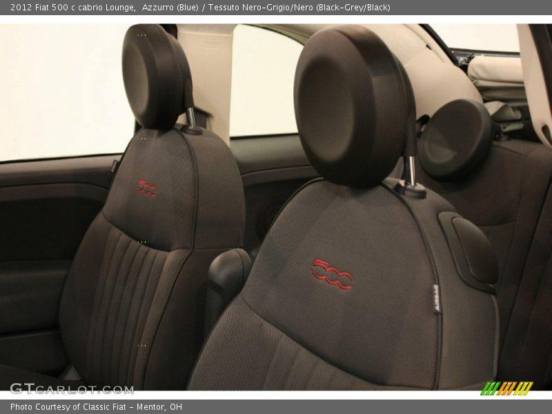 2012 500 c cabrio Lounge Tessuto Nero-Grigio/Nero (Black-Grey/Black) Interior