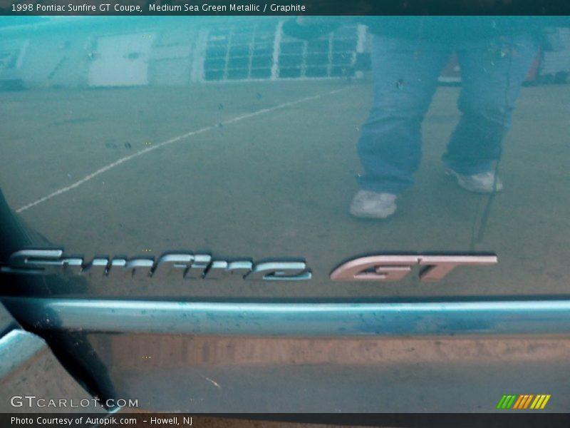 Medium Sea Green Metallic / Graphite 1998 Pontiac Sunfire GT Coupe