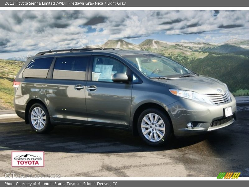 Toyota Sienna Pictures 2012 Toyota Sienna Limited AWD in Predawn Gray Mica Photo ...
