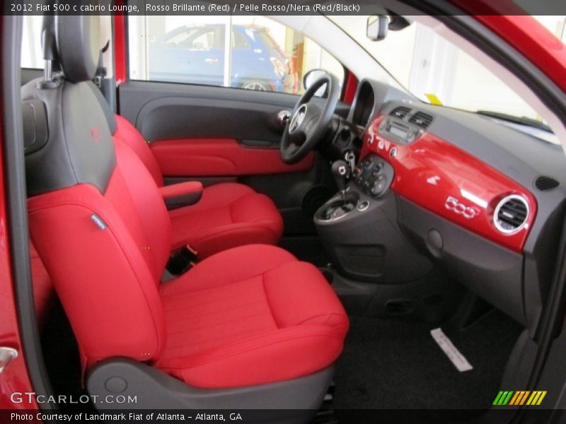 2012 500 c cabrio Lounge Pelle Rosso/Nera (Red/Black) Interior