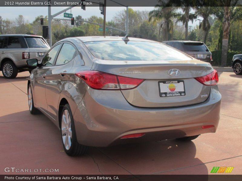Desert Bronze / Black 2012 Hyundai Elantra GLS