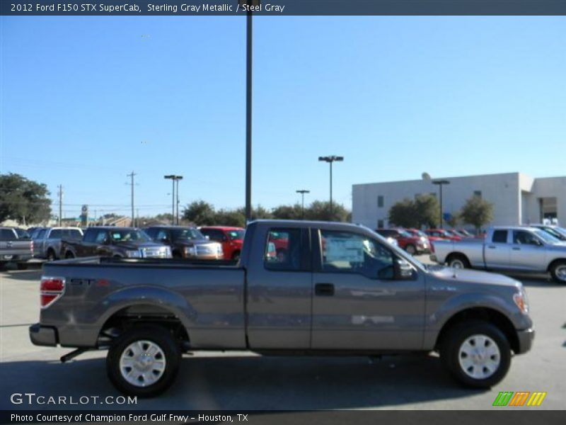 Sterling Gray Metallic / Steel Gray 2012 Ford F150 STX SuperCab