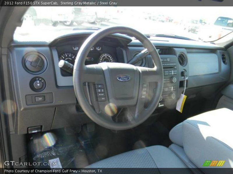 Sterling Gray Metallic / Steel Gray 2012 Ford F150 STX SuperCab