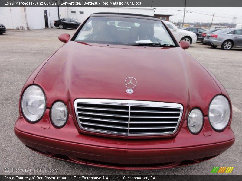 1999 Mercedes Benz Clk 320 Convertible In Bordeaux Red