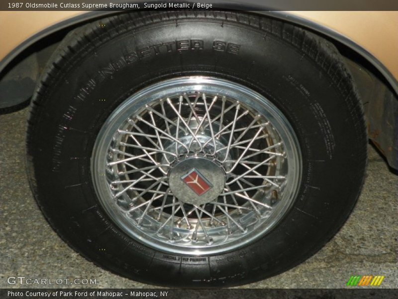 Sungold Metallic / Beige 1987 Oldsmobile Cutlass Supreme Brougham