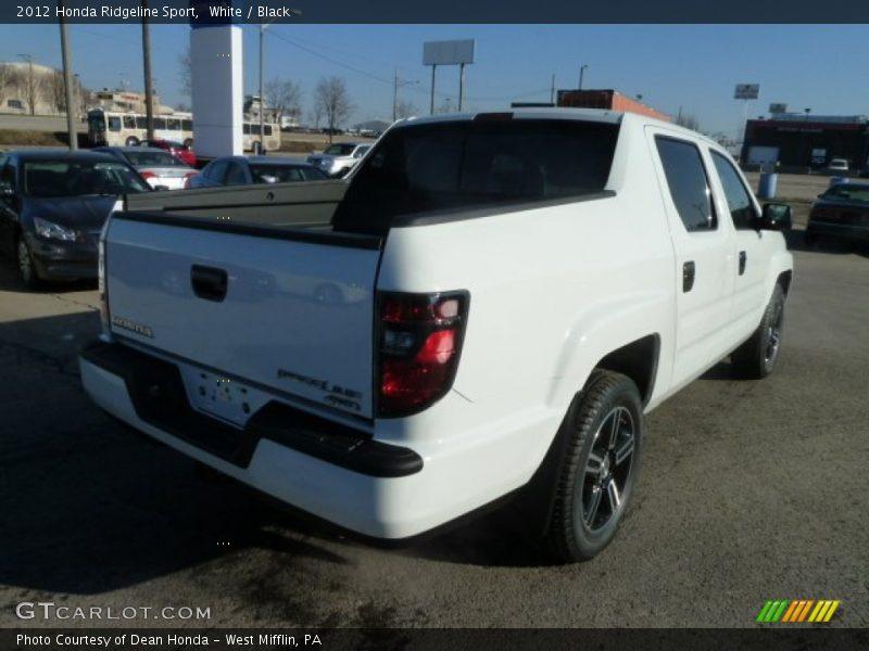 White / Black 2012 Honda Ridgeline Sport