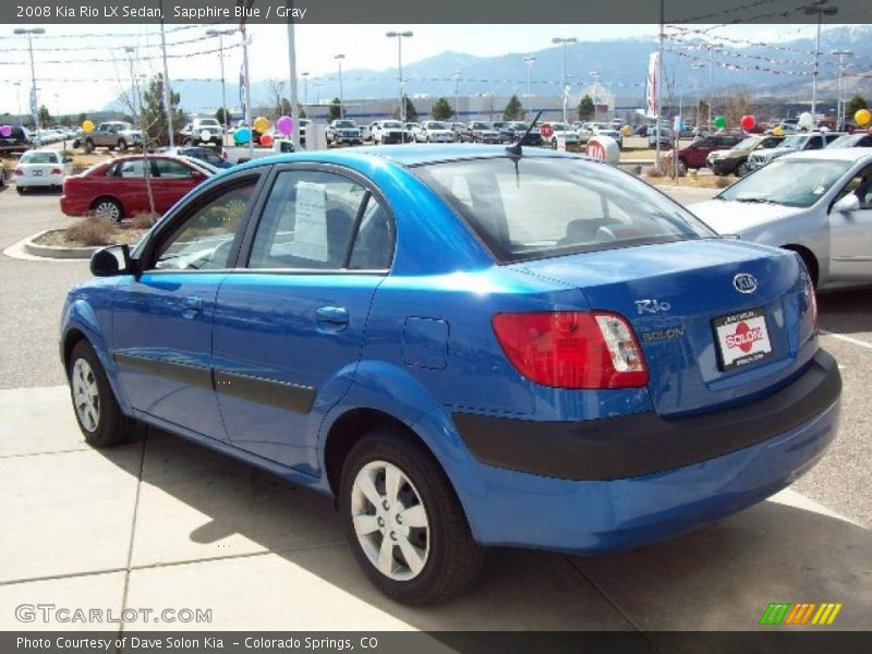 2008 Kia Rio Lx Sedan In Sapphire Blue Photo No 6002610