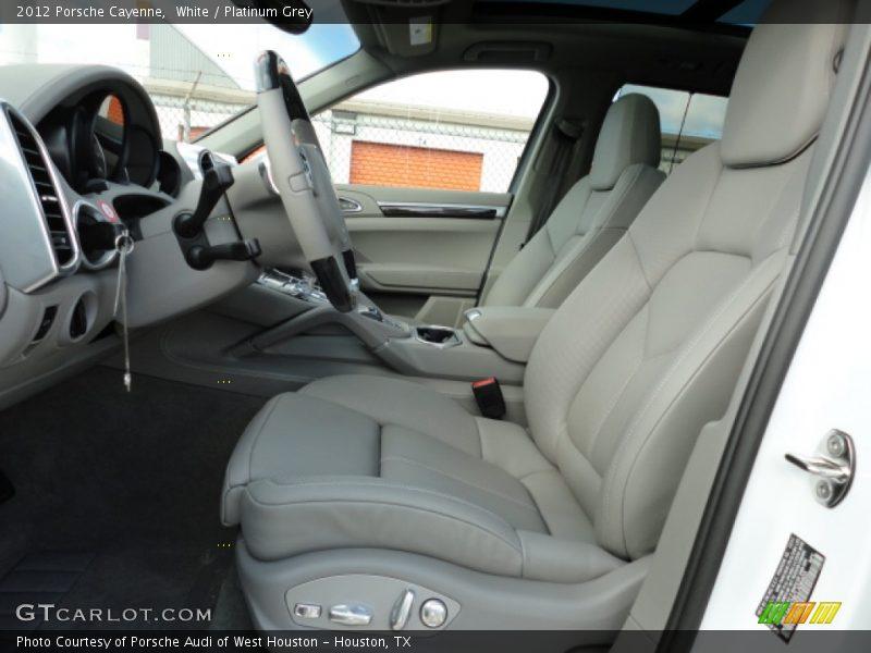 2012 Cayenne  Platinum Grey Interior