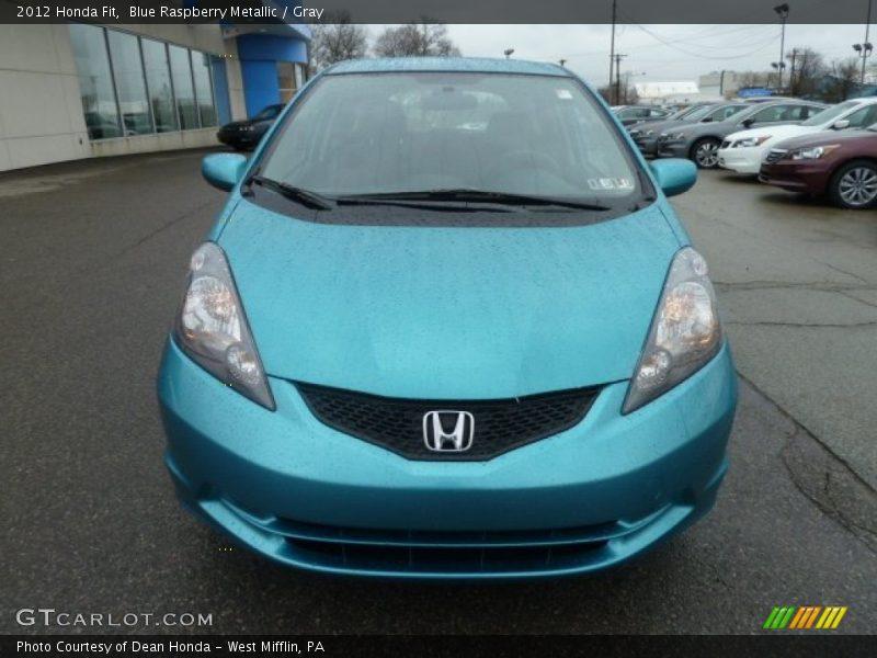 Blue Raspberry Metallic / Gray 2012 Honda Fit
