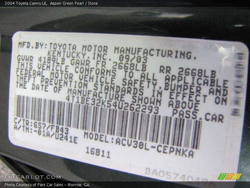 Amazon Com Toyota Camry 6s7 Aspen Green Pearl