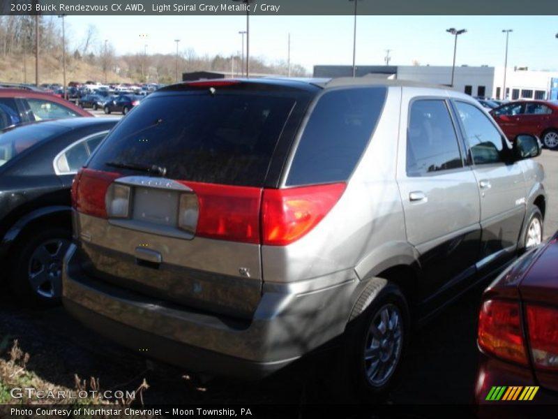 Light Spiral Gray Metallic / Gray 2003 Buick Rendezvous CX AWD