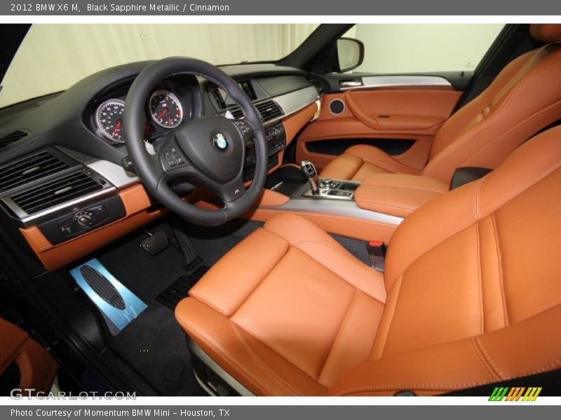 Black Sapphire Metallic / Cinnamon 2012 BMW X6 M