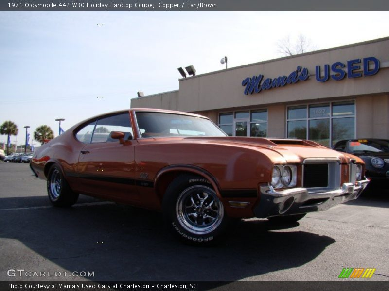 Copper / Tan/Brown 1971 Oldsmobile 442 W30 Holiday Hardtop Coupe
