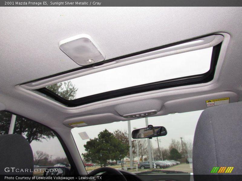 Sunlight Silver Metallic / Gray 2001 Mazda Protege ES
