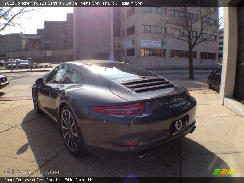 Agate Grey Metallic / Platinum Grey 2012 Porsche New 911 Carrera S Coupe