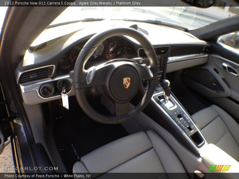 Agate Grey Metallic / Platinum Grey 2012 Porsche New 911 Carrera S Coupe