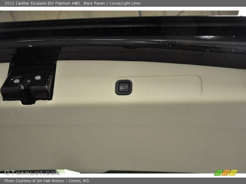 Black Raven / Cocoa/Light Linen 2012 Cadillac Escalade ESV Platinum AWD
