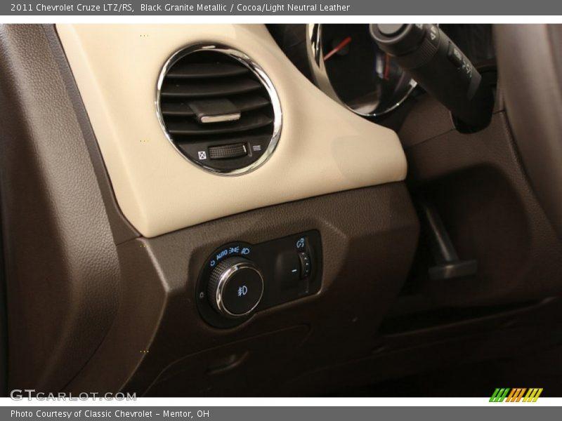 Black Granite Metallic / Cocoa/Light Neutral Leather 2011 Chevrolet Cruze LTZ/RS