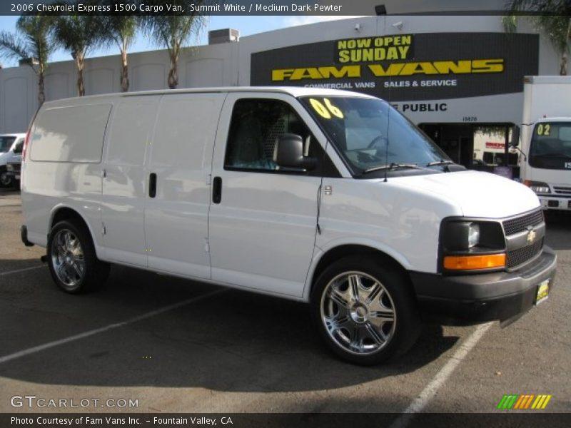 2006 chevrolet express 1500 cargo van in summit white photo no 61136855. Black Bedroom Furniture Sets. Home Design Ideas