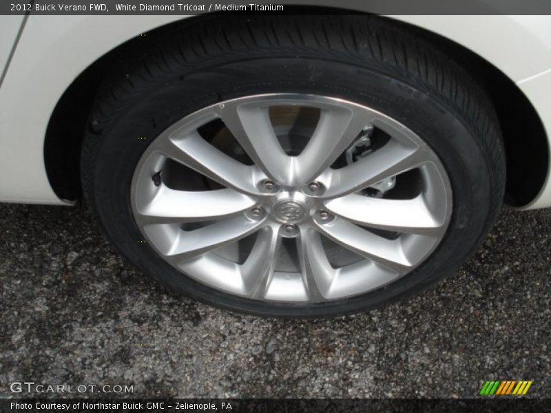 White Diamond Tricoat / Medium Titanium 2012 Buick Verano FWD