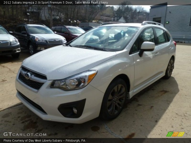 Satin White Pearl / Ivory 2012 Subaru Impreza 2.0i Sport Premium 5 Door