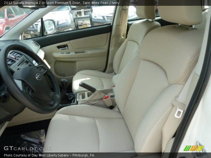 2012 Impreza 2.0i Sport Premium 5 Door Ivory Interior