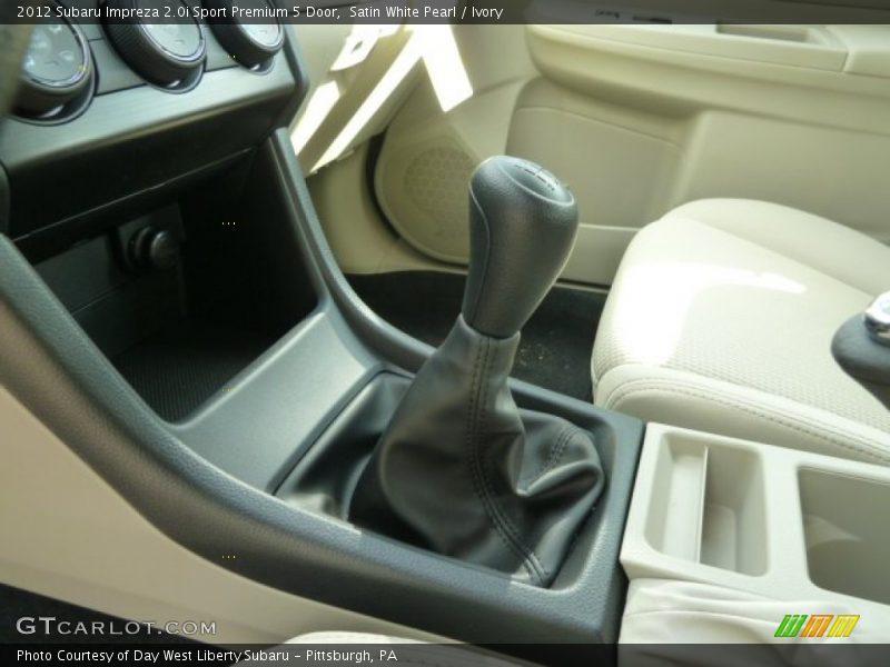 2012 Impreza 2.0i Sport Premium 5 Door 5 Speed Manual Shifter