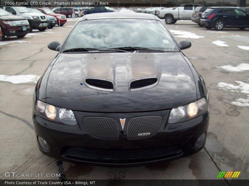 Phantom Black Metallic / Black 2006 Pontiac GTO Coupe
