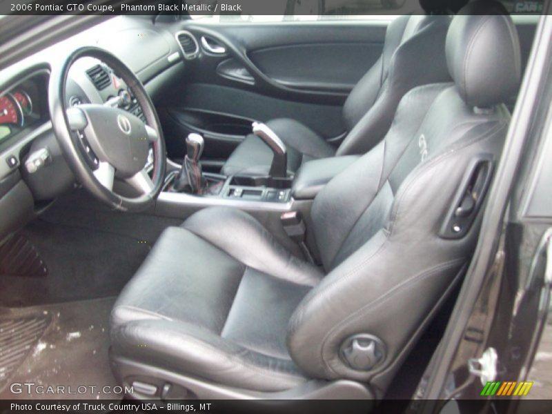 2006 GTO Coupe Black Interior