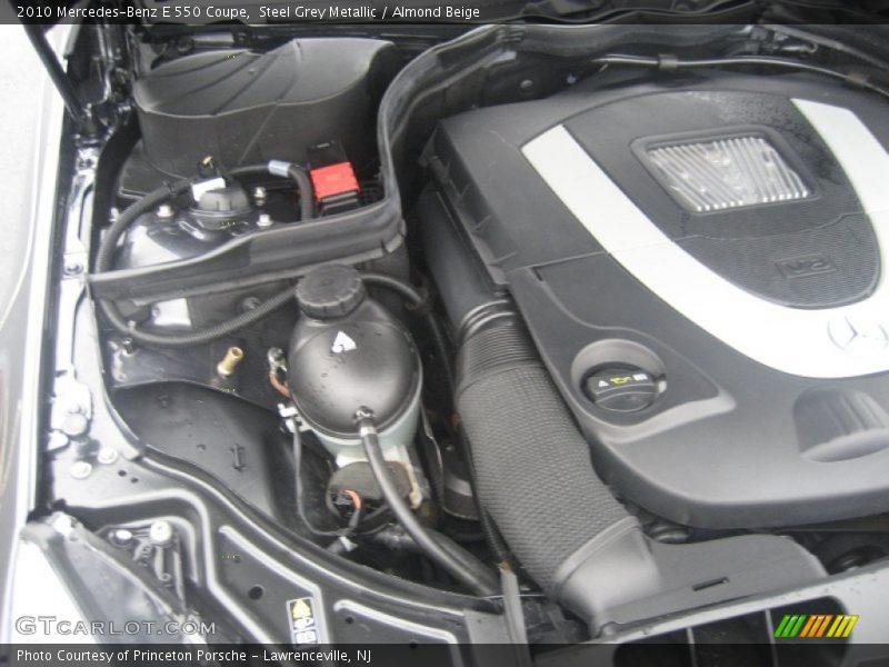 Steel Grey Metallic / Almond Beige 2010 Mercedes-Benz E 550 Coupe
