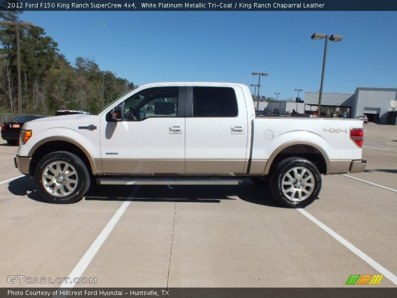 2012 ford f150 king ranch supercrew 4x4 in white platinum metallic tri coat photo no 61870513. Black Bedroom Furniture Sets. Home Design Ideas