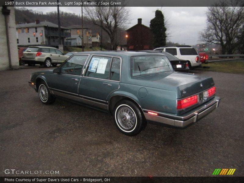 1987 Buick Electra Park Avenue in Light Sage Metallic Photo No. 62101100 : GTCarLot.com