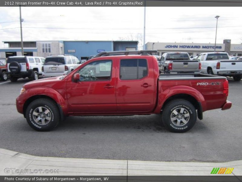 2012 nissan frontier pro 4x crew cab 4x4 in lava red photo no 62487658. Black Bedroom Furniture Sets. Home Design Ideas