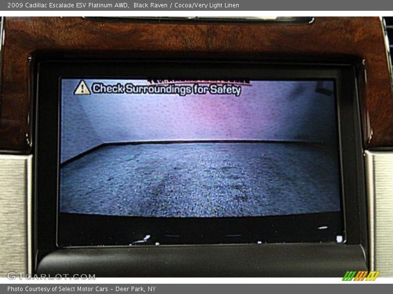 Black Raven / Cocoa/Very Light Linen 2009 Cadillac Escalade ESV Platinum AWD